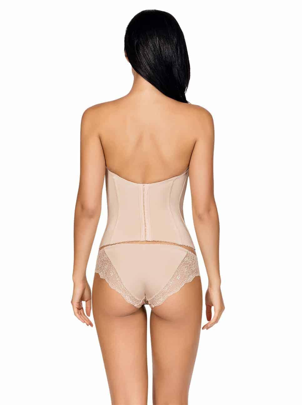 67d043047f ... Elissa Low BackBustierP5017 BikiniP5013 EuropeanNude Back - Elissa Low-Back  Bustier - Nude - P5017 ...