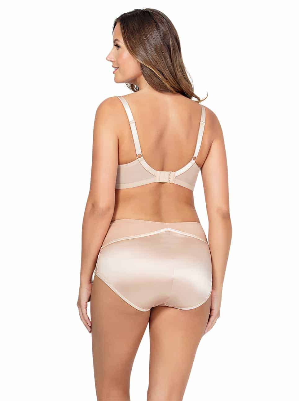 Charlotte PaddedBra6901 HighwaistBrief6917 TrueNude Back3 copy - Charlotte Highwaist Brief - True Nude - 6917