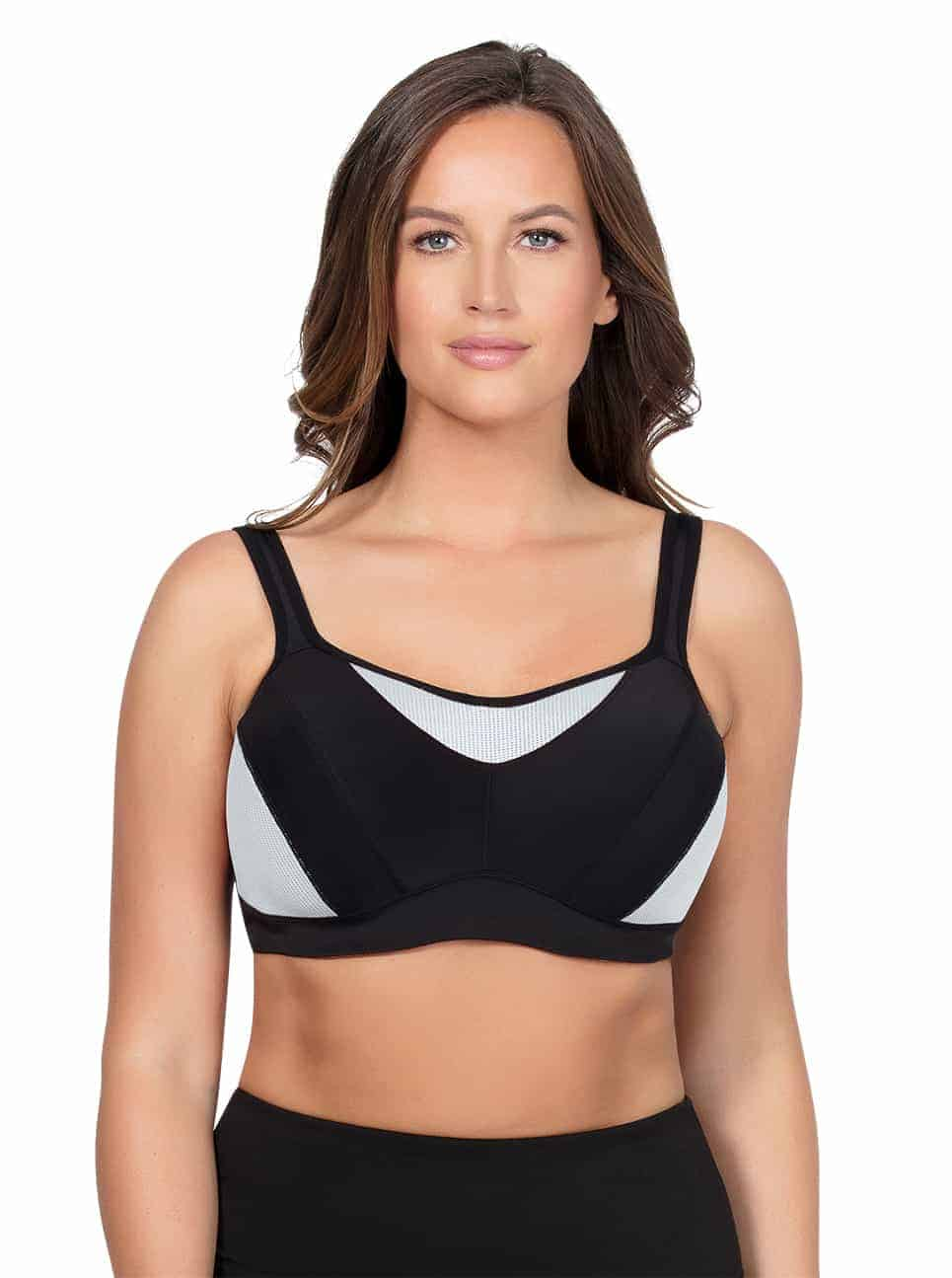 ParfaitActive SportsBraP5541 Black Front - Parfait Active Sports Bra - Black - P5541