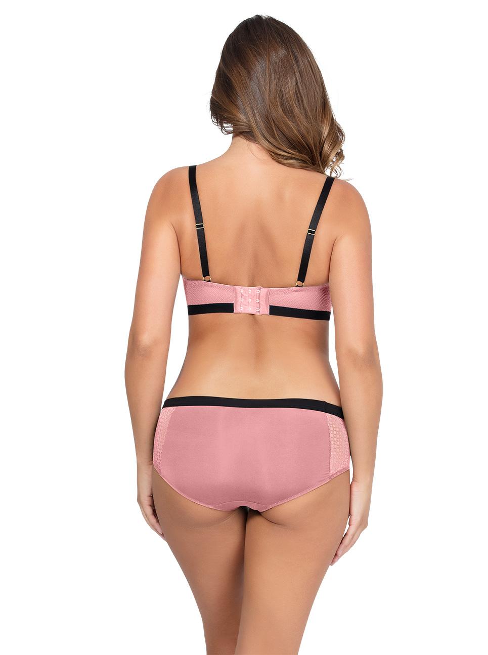 Romina UnlinedWireBraP5522 HipsterP5525 QuartzPink Back - Romina Hipster - Quartz Pink- P5525