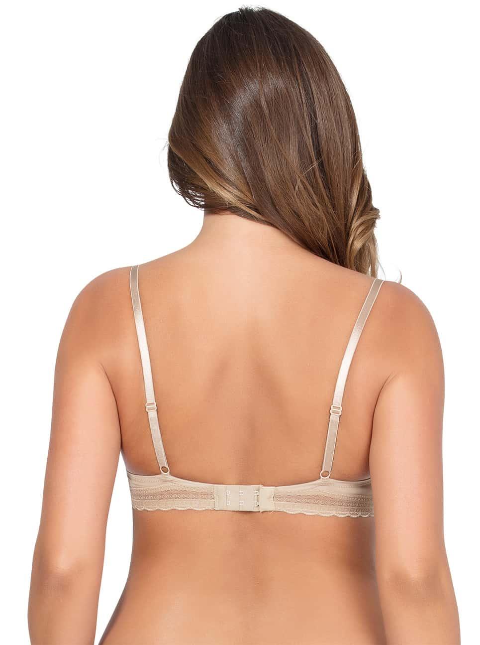 Emma Wire FreeSoftPaddedBraP5491 Bare Back - Emma Wire-Free Soft Padded Bra - Bare - P5491