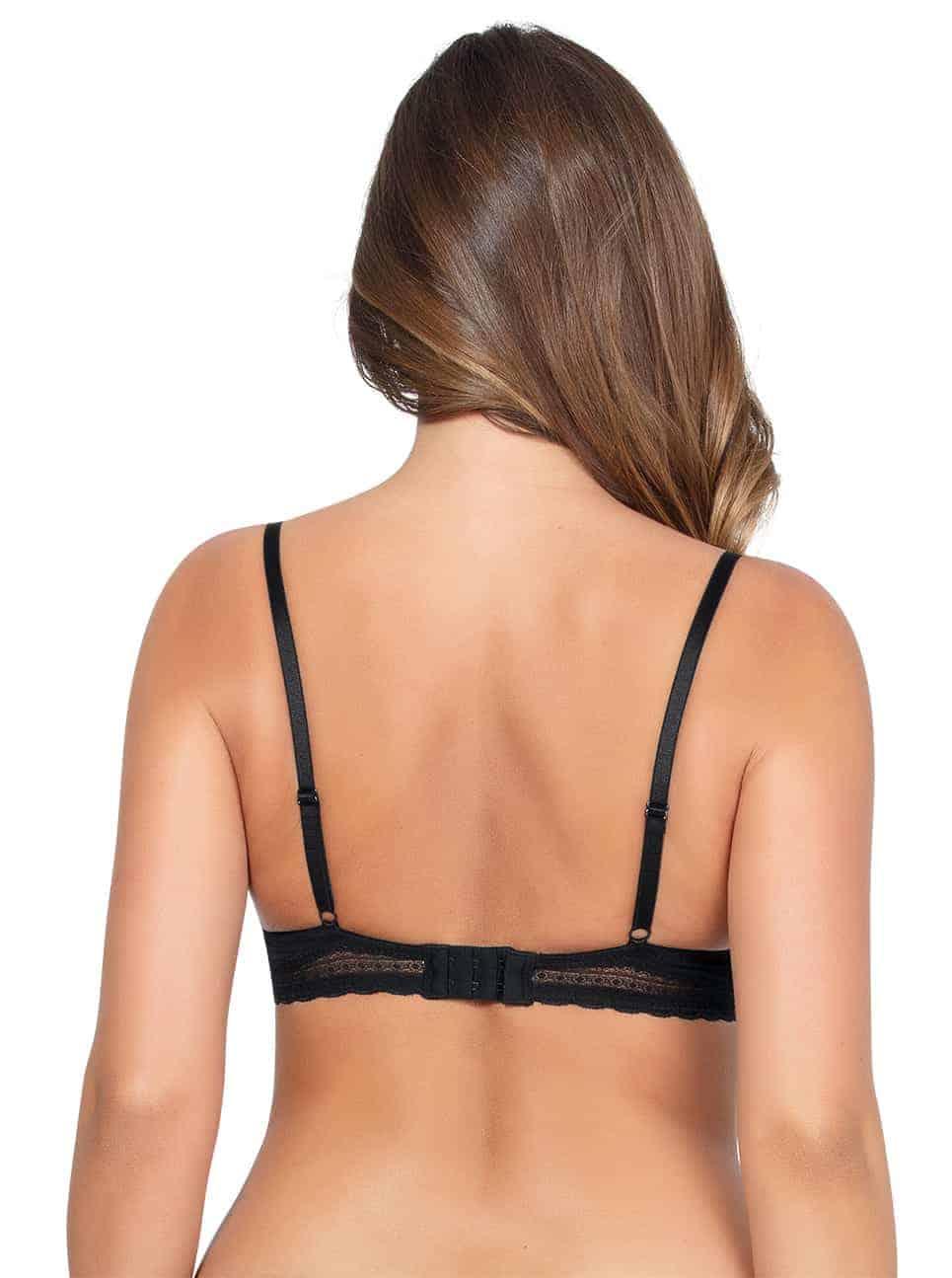 Emma Wire FreeSoftPaddedBraP5491 Black Back - Emma Wire-Free Soft Padded Bra - Black - P5491