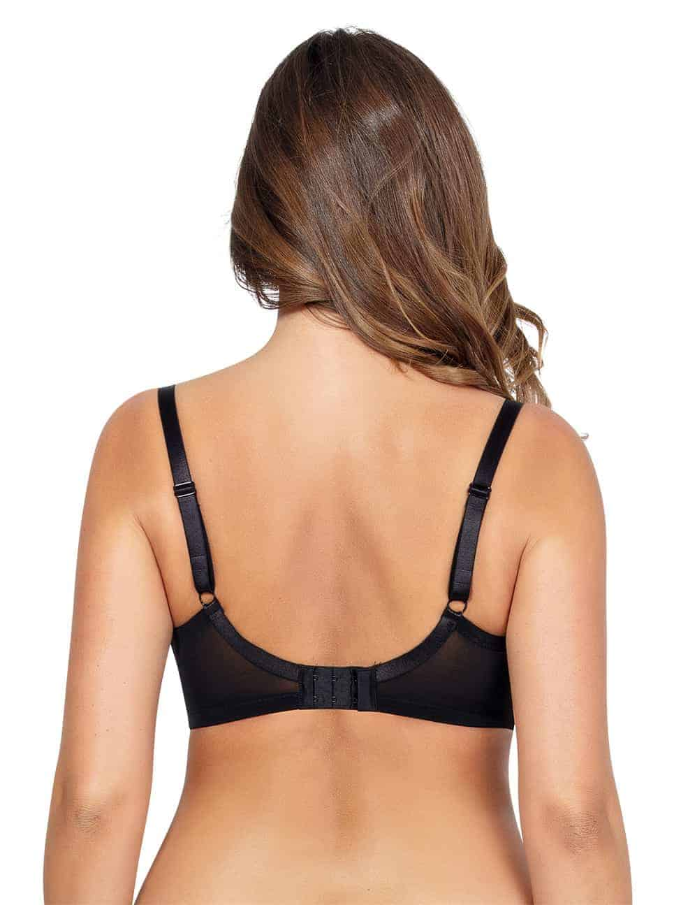 Emma PlungeMoldedBraP5490 Black Back - Emma Plunge Molded Bra - Black - P5490
