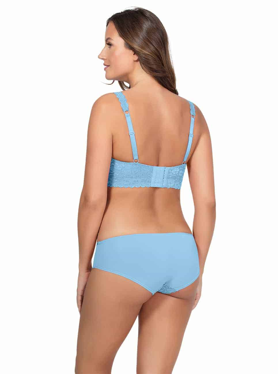 PARFAIT Adriana LaceBraletteP5482 BikiniP5483 SkyBlue Back - Adriana Lace Bralette - Sky Blue - P5482