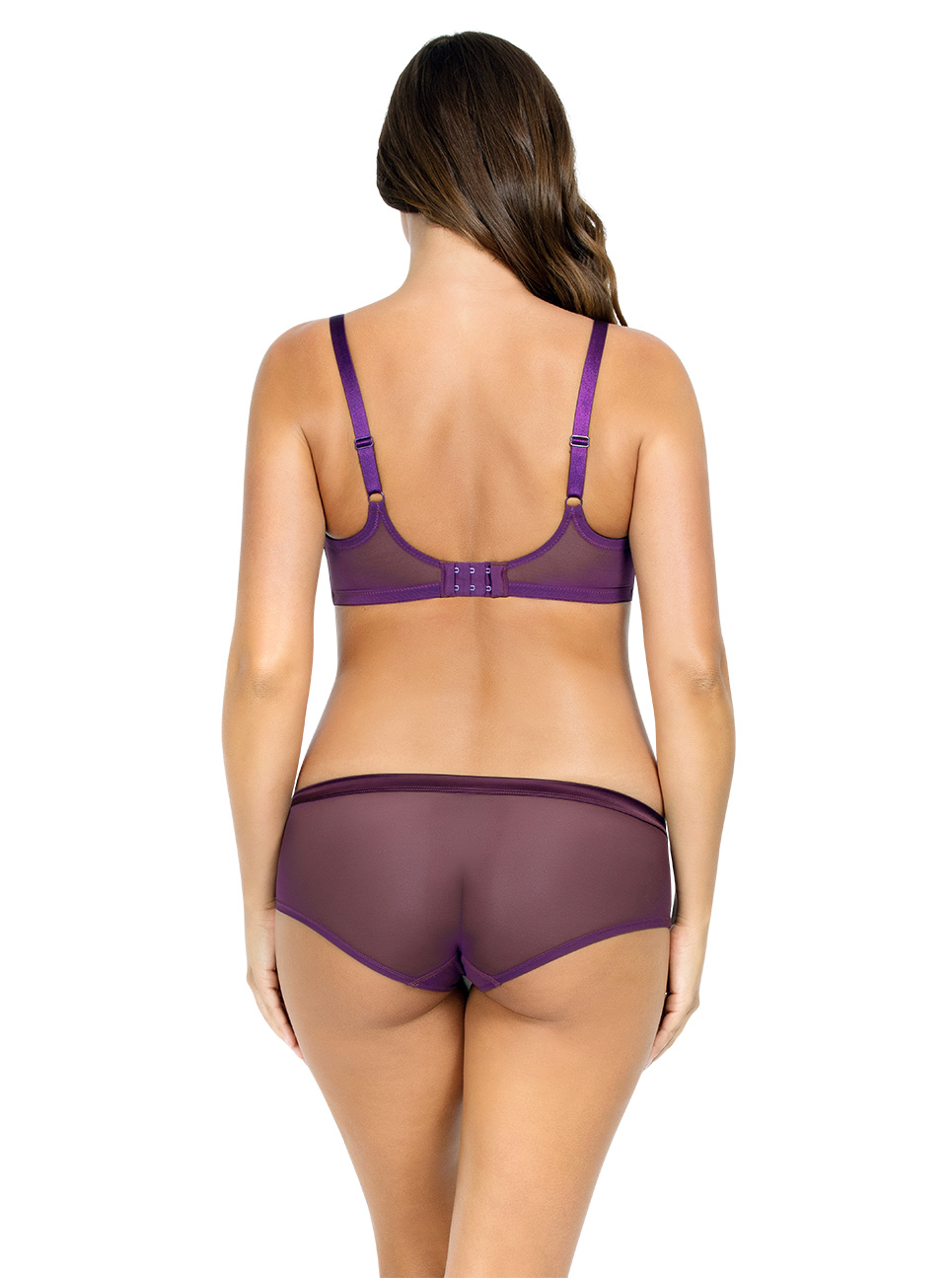 PARFAIT Lulu UnderwireBraP5612 HipsterP5615 Grape Back1 - Lulu Hipster - Grape - P5615