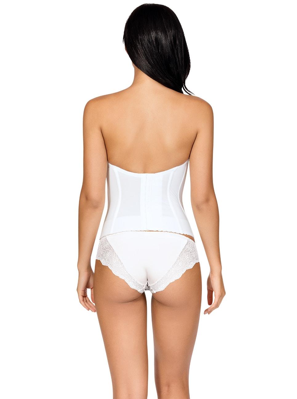 7d214c61f2c ... PARFAIT Elissa Low BackBustierP5017 BikiniP5013 PearlWhite Back copy - Elissa  Low-Back Bustier - Pearl ...