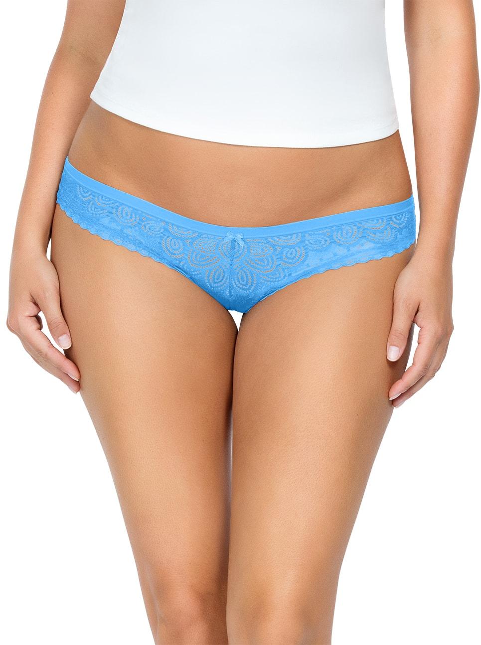 ParfaitPanty SoGlam BIKINIPP302 MediterraneanBlue FRONT - Parfait Panty So Glam Bikini - Mediterranean Blue - PP302