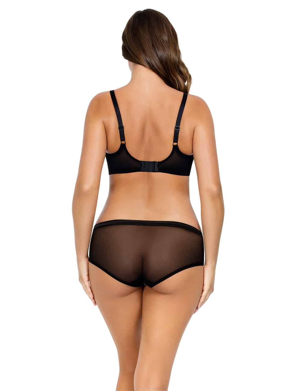 PARFAIT Lulu UnderwireBraP5612 HipsterP5615 BlackPewter Back copy 2 - Lulu Underwire Bra - Black/Pewter - P5612