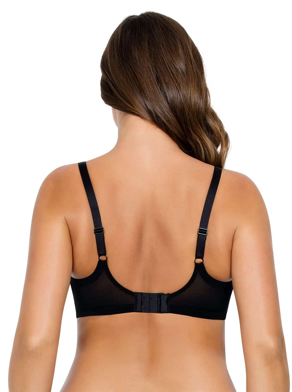 PARFAIT Lulu UnderwireBraP5612 BlackPewter Back copy - Lulu Underwire Bra - Black/Pewter - P5612