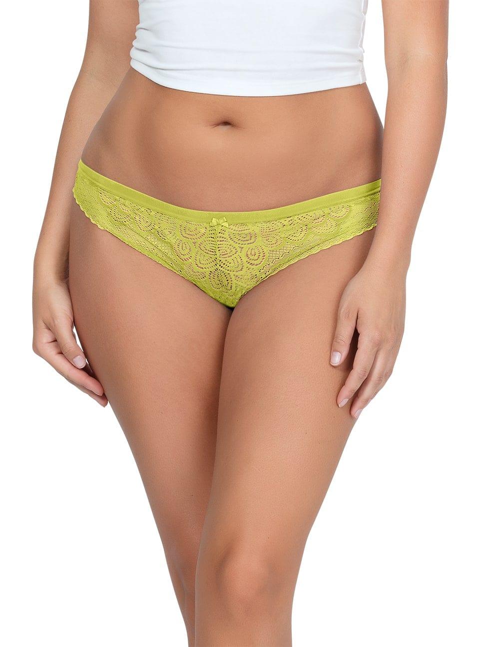 ParfaitPanty SoGlam ThongPP402 Lemonade front - Parfait Panty So Glam Thong - Lemonade - PP402