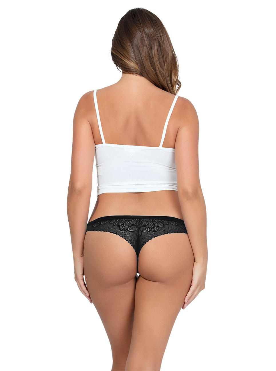 ParfaitPanty SoGlam ThongPP402 black back copy - Parfait Panty So Glam Thong - Black - PP402