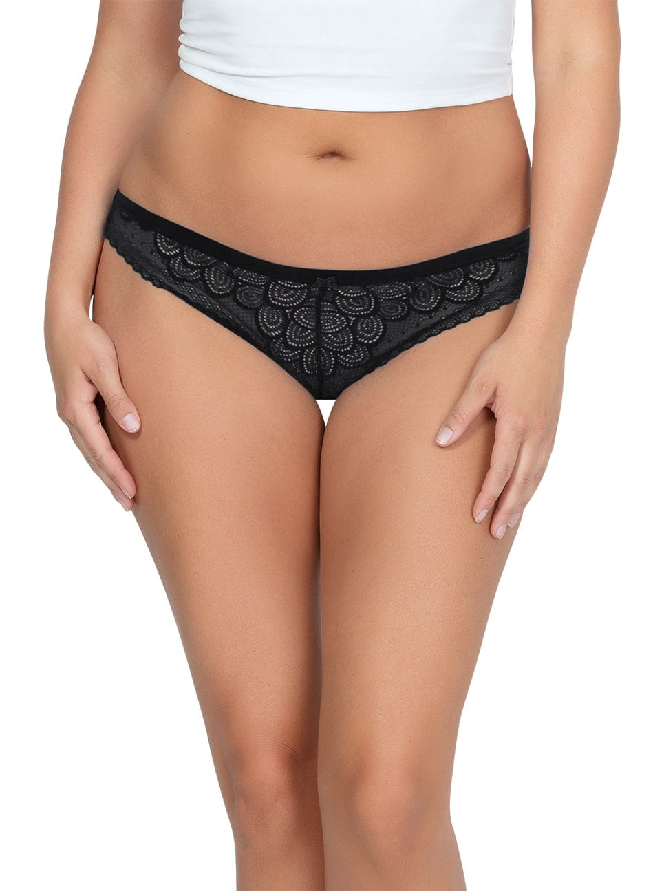 ParfaitPanty SoGlam ThongPP402 black front - Parfait Panty So Glam Thong - Black - PP402