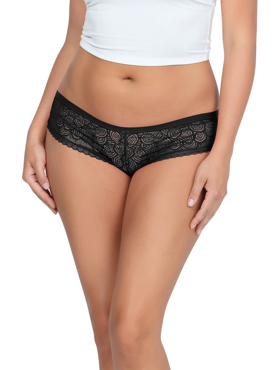 ParfaitPanty SoGlam HipsterPP502 Black front1 - Parfait Panty So Glam Hipster - Black - PP502