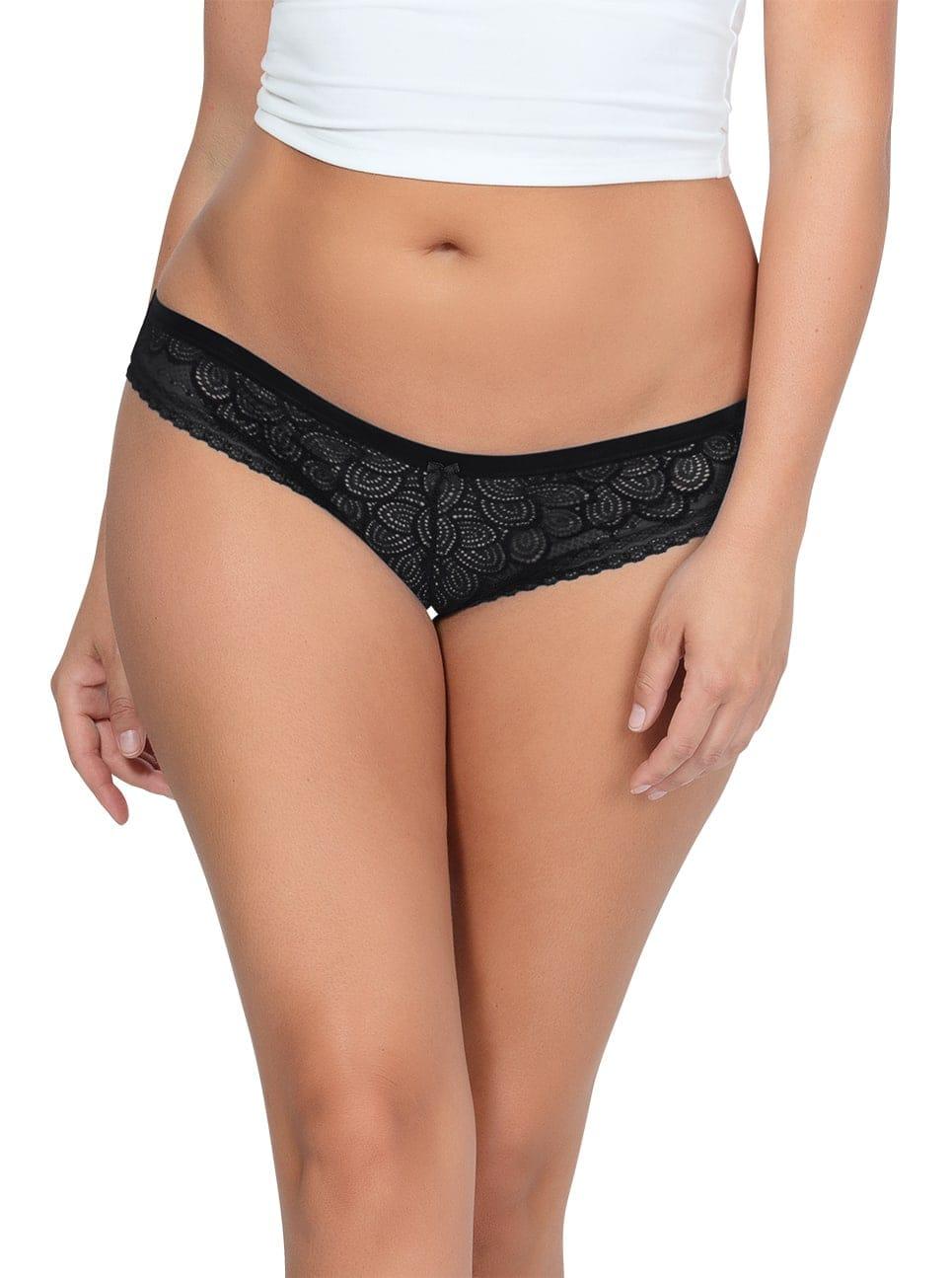 ParfaitPanty SoGlam BikiniPP302 Black front - Parfait Panty So Glam Bikini - Black - PP302