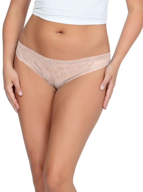 PARFAIT ParfaitPanty SoGlam ThongPP402 Bare Front 600x805 - Parfait Panty So Glam Thong - Bare - PP402