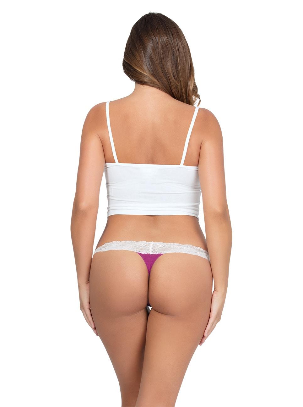 PARFAIT ParfaitPanty SoEssential ThongPP403 WildPinkIvory Back copy - Parfait Panty So Essential Thong - Wild Pink - PP403