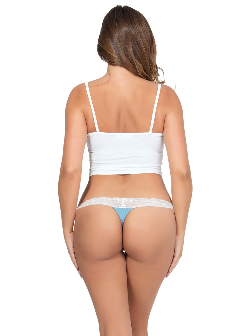 PARFAIT ParfaitPanty SoEssential ThongPP303 SkyBlueIvory Back copy - Parfait Panty So Essential Thong- Skyblue - PP403