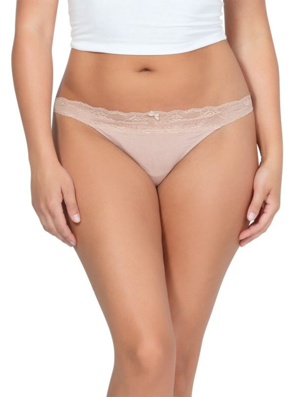 PARFAIT ParfaitPanty SoEssential ThongPP403 Bare Front 600x805 - Parfait Panty So Essential Thong- Bare - PP403