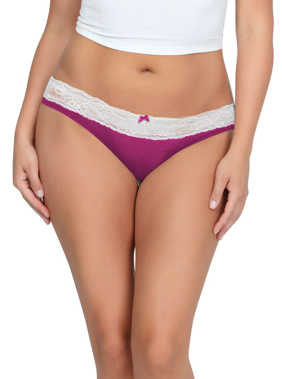 PARFAIT ParfaitPanty SoEssential BikiniPP303 WildPinkIvory Front - Parfait Panty So Essential Bikini- Wild Pink - PP303