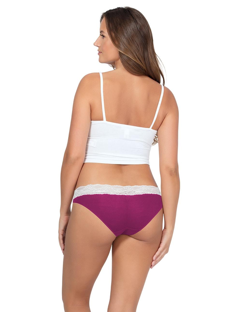 PARFAIT ParfaitPanty SoEssential BikiniPP303 WildPinkIvory Back copy - Parfait Panty So Essential Bikini- Wild Pink - PP303