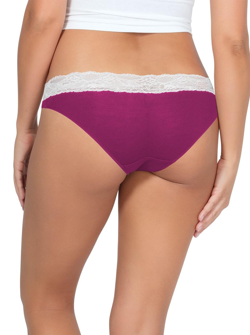 PARFAIT ParfaitPanty SoEssential BikiniPP303 WildPinkIvory Back - Parfait Panty So Essential Bikini- Wild Pink - PP303