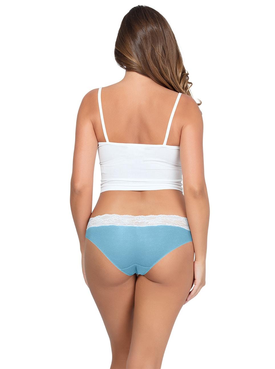 PARFAIT ParfaitPanty SoEssential BikiniPP303 SkyBlueIvory Back copy - Parfait Panty So Essential Bikini- Skyblue - PP303