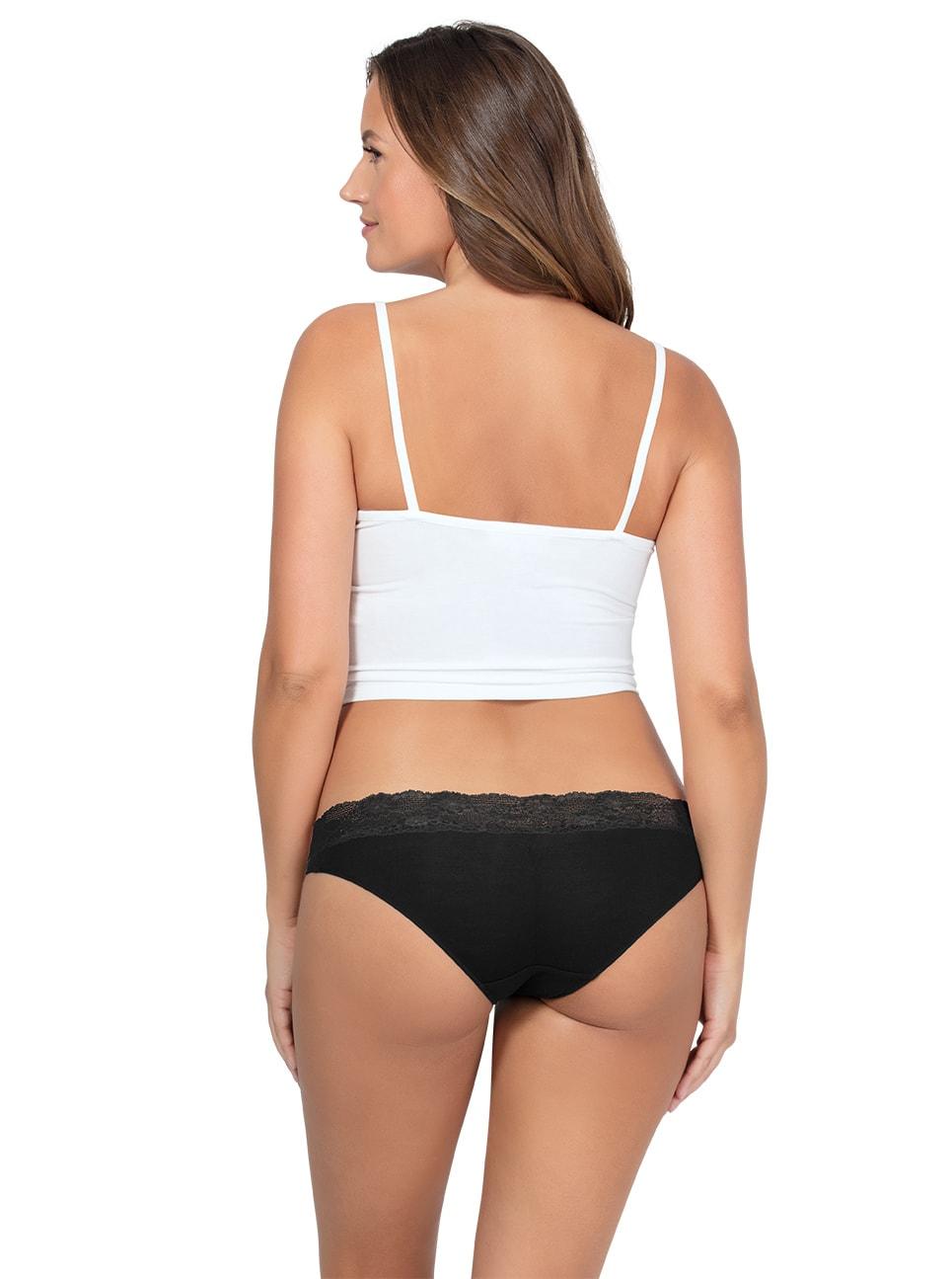 PARFAIT ParfaitPanty SoEssential BikiniPP303 Black Back2 - Parfait Panty So Essential Bikini- Black - PP303
