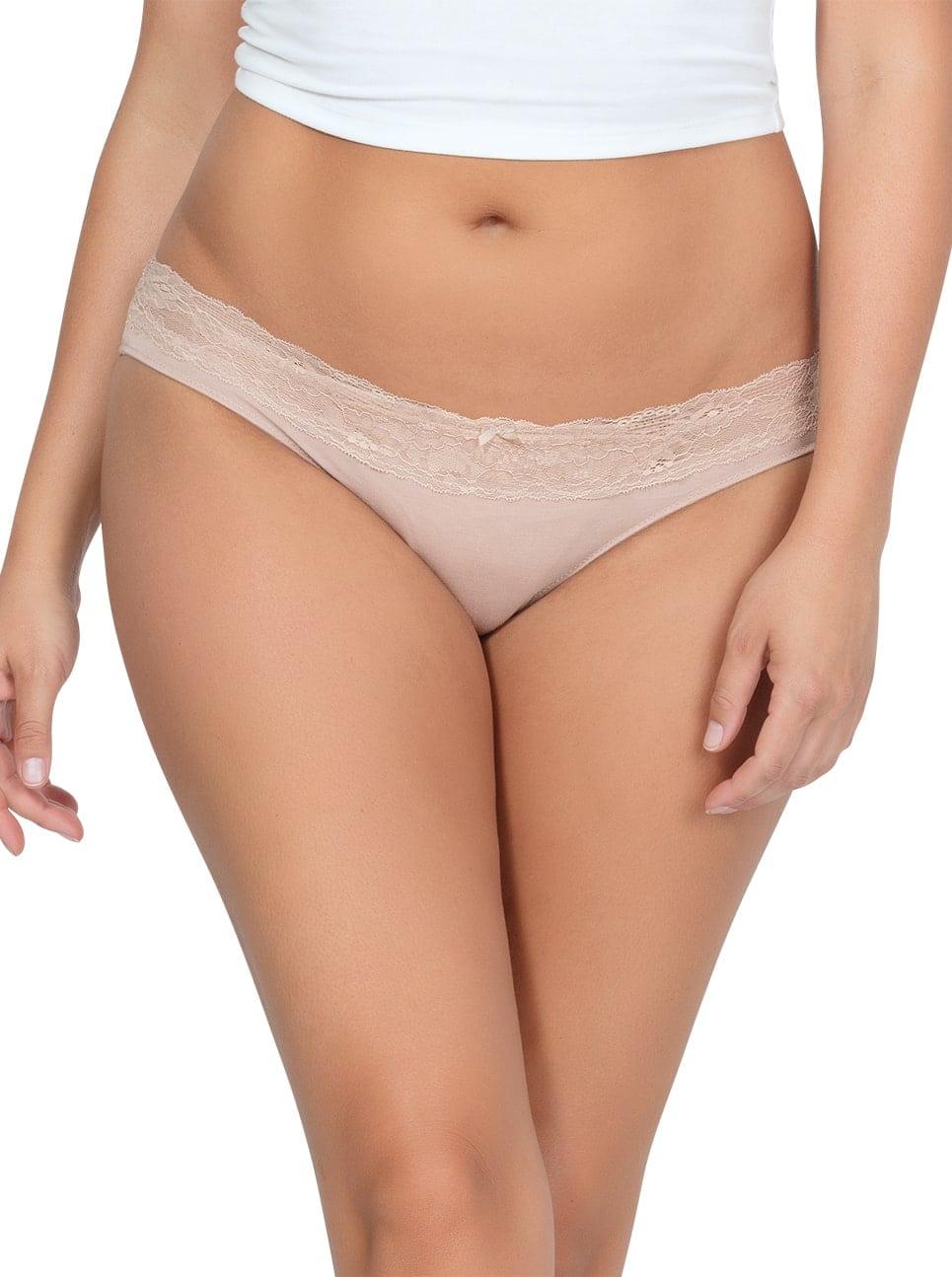 PARFAIT ParfaitPanty SoEssential BikiniPP303 Bare Front2 1 - Parfait Panty So Essential Bikini- Bare - PP303