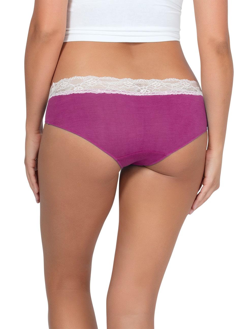 PARFAIT ParfaitPanty SoEssential HipsterPP503 WildPinkIvory Back - Parfait Panty So Essential Hipster - Wild Pink- PP503