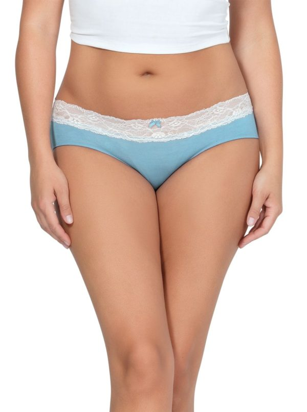 PARFAIT ParfaitPanty SoEssential HipsterPP503 SkyBlueIvory Front 600x805 - Parfait Panty So Essential Hipster - Skyblue- PP503