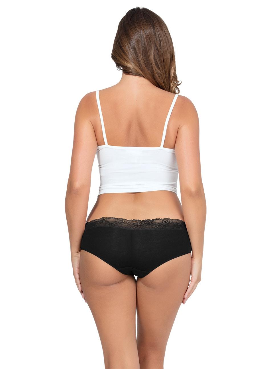 PARFAIT ParfaitPanty SoEssential HipsterPP503 Black Back copy - Parfait Panty So Essential Hipster - Black - PP503