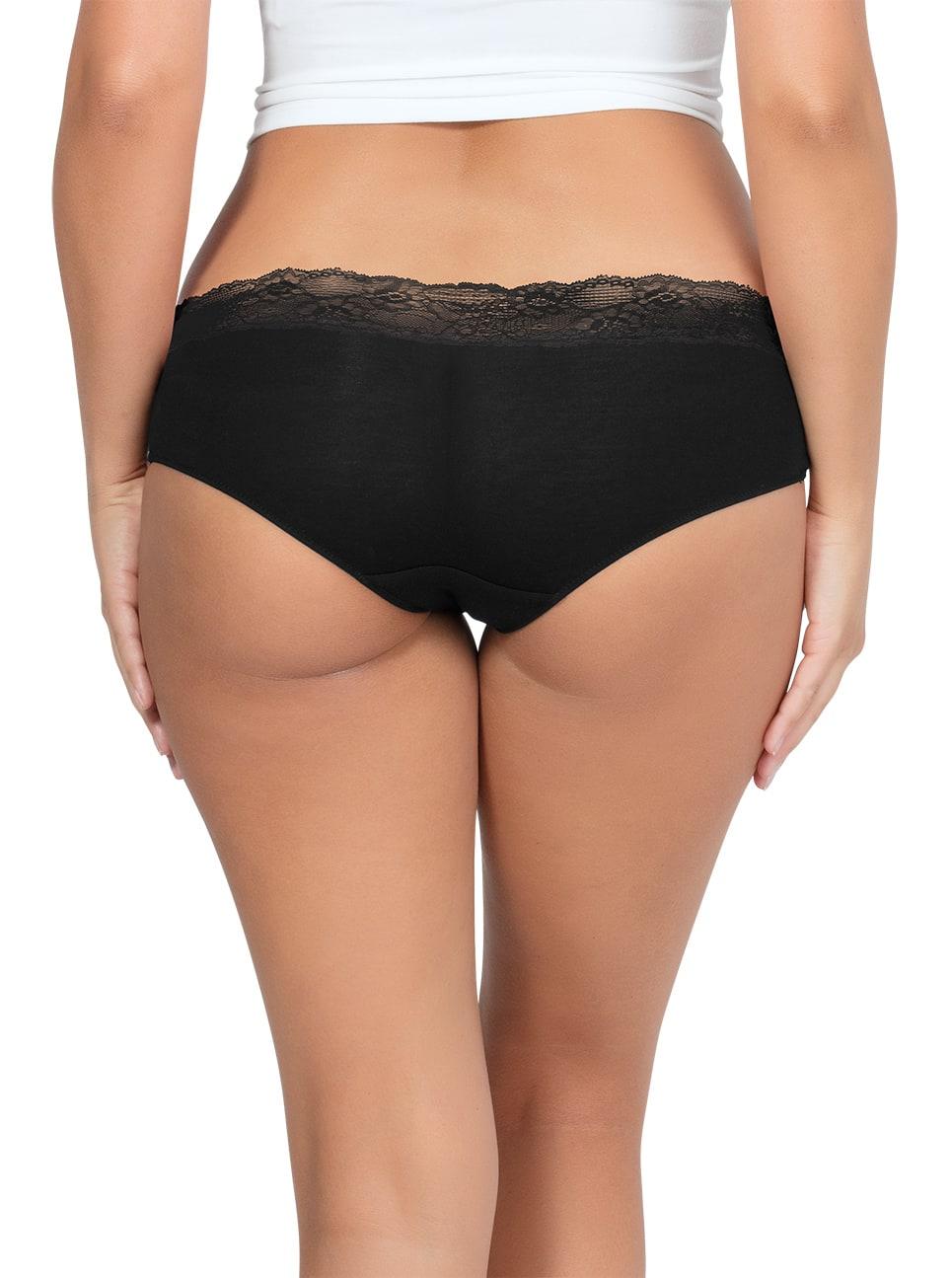 PARFAIT ParfaitPanty SoEssential HipsterPP503 Black Back - Parfait Panty So Essential Hipster - Black - PP503