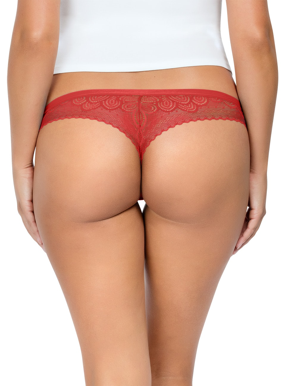 PARFAIT ParfaitPanty SoGlam ThongPP402 Scarlette Back close - Parfait Panty So Glam Thong - Scarlette - PP402