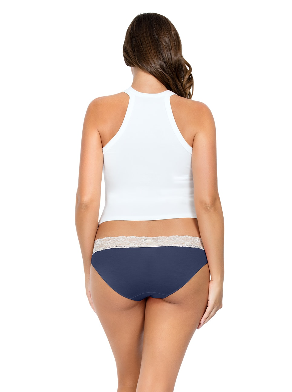 PARFAIT ParfaitPanty SoEssential BikiniPP303 NavyBlue Back - Parfait Panty So Essential Bikini- Navy - PP303