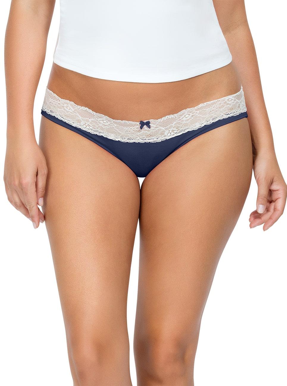PARFAIT ParfaitPanty SoEssential BikiniPP303 NavyBlue Front close - Parfait Panty So Essential Bikini- Navy - PP303