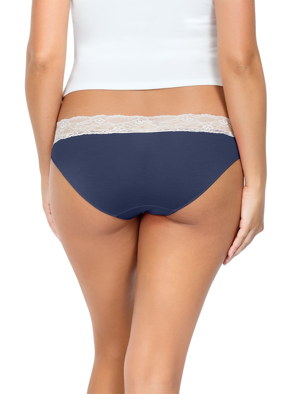 PARFAIT ParfaitPanty SoEssential BikiniPP303 NavyBlue Back close - Parfait Panty So Essential Bikini- Navy - PP303