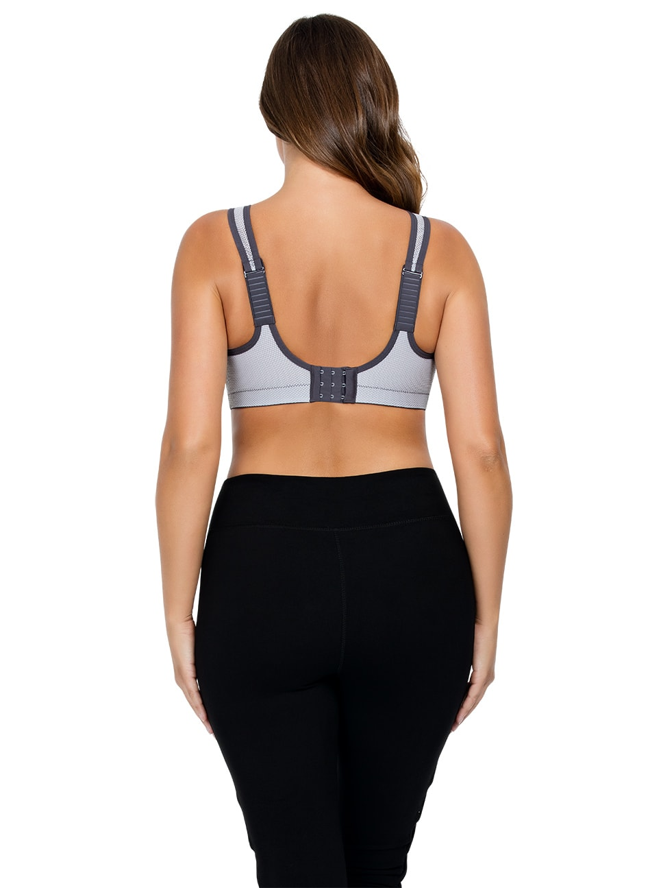PARFAIT ParfaitActive WirelessUnlinedSportsBraP5542 Rabbit White Back copy - Parfait Active Sports Bra - Rabbit/White - P5542