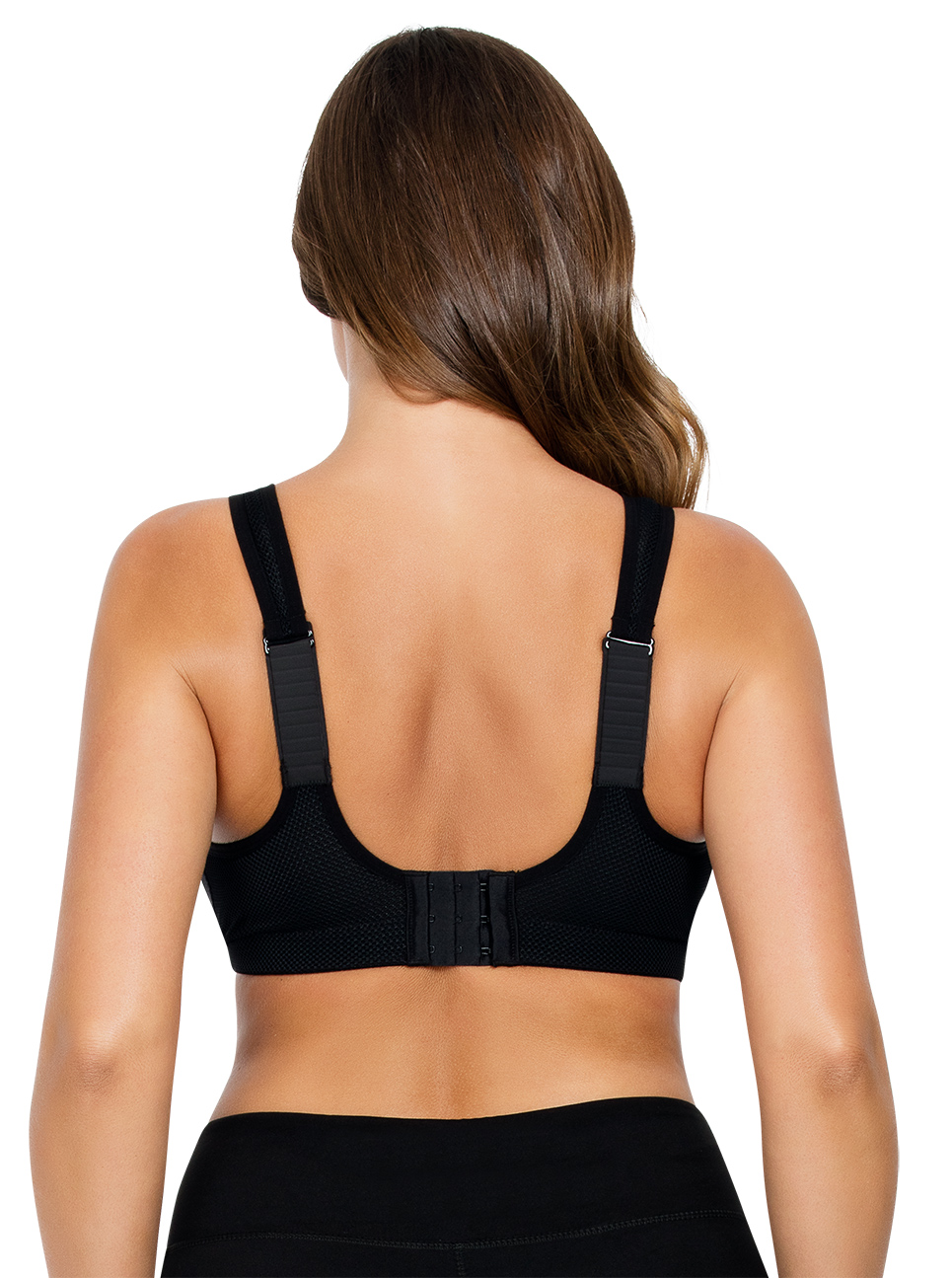 PARFAIT ParfaitActive WirelessUnlinedSportsBraP5542 Black Back close - Parfait Active Sports Bra - Black - P5542