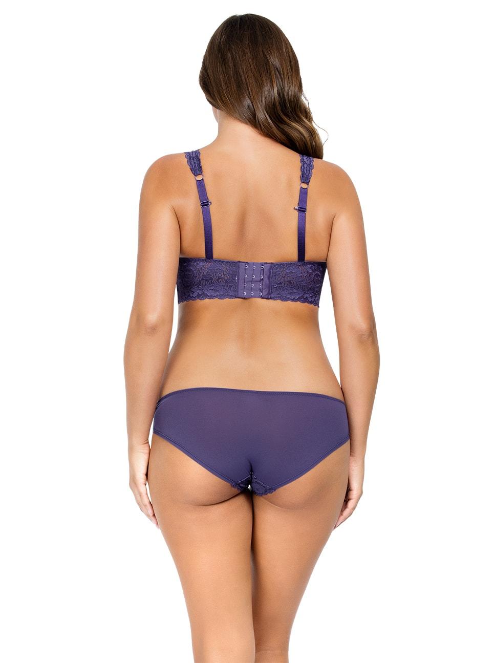 PARFAIT Adriana LaceBraletteP5482 BikiniP5483 Mulberry Back copy 2 - Adriana Lace Bralette - Mulberry - P5482