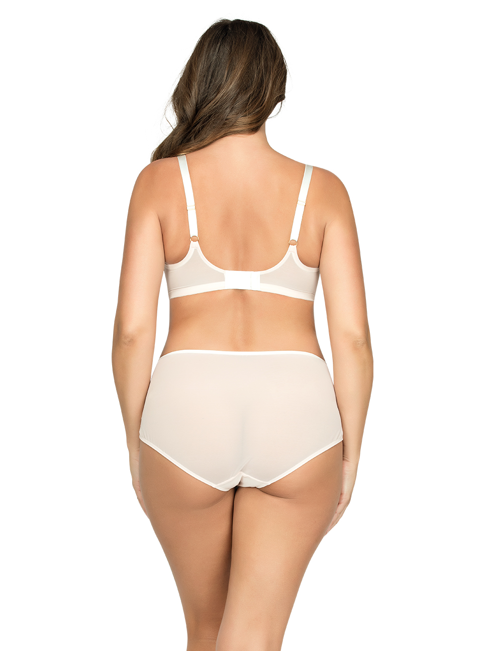 PARFAIT Briana UnlineWireBraP5672 HighwaistedBriefP5675 PetalPinkFloral Back - Briana Highwaisted Brief Petal Pink w Floral P5675
