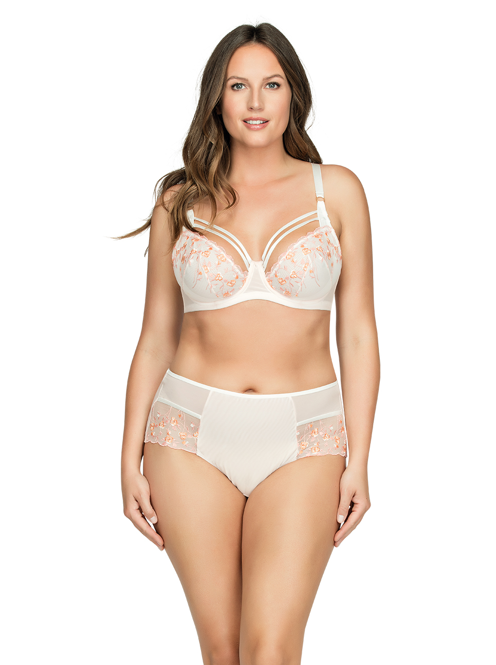 PARFAIT Briana UnlineWireBraP5672 HighwaistedBriefP5675 PetalPinkFloral Front1 - Briana Unlined Wire Bra Petal Pink w Floral P5672