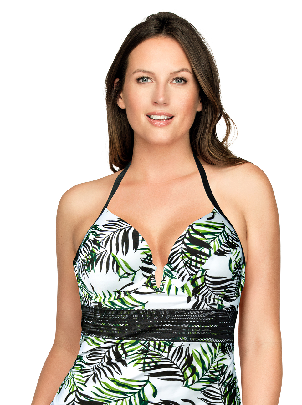 PARFAIT Christy TankiniS8057 WildLeaves Front1 - Christy Tankini Wild Leaves S8057