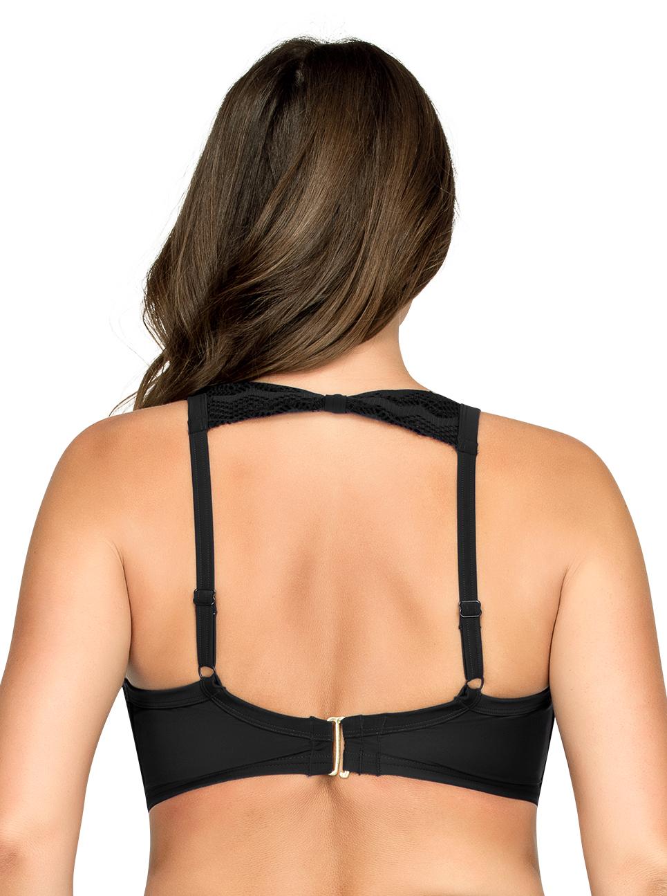 PARFAIT Keira HalterNeckBikiniTopS8071 Black Back - Keira Halter-Neck Bikini Top Black S8071