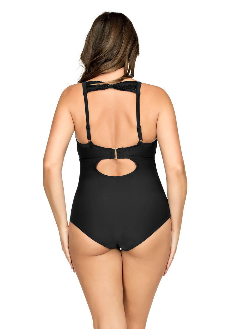 PARFAIT Keira OnePieceSwimsuitS8076 Black Back - Keira One-Piece Swimsuit Black S8076