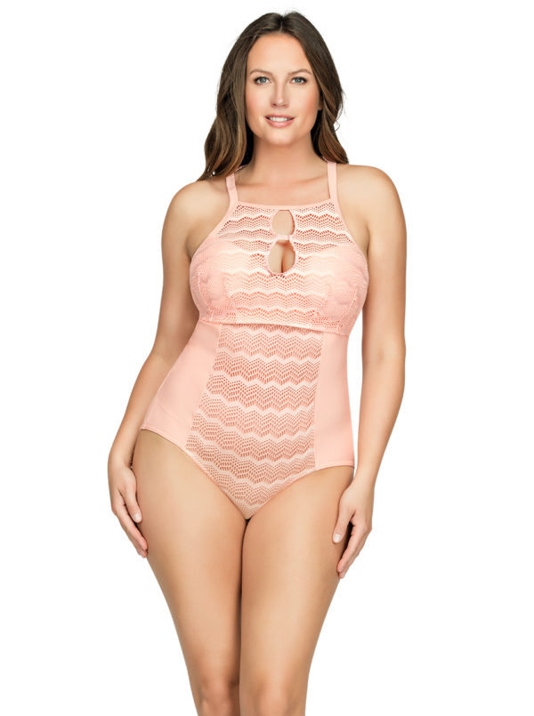 PARFAIT Keira OnePieceSwimsuitS8076 Peach Front1 600x805 - Keira One-Piece Swimsuit Peach S8076