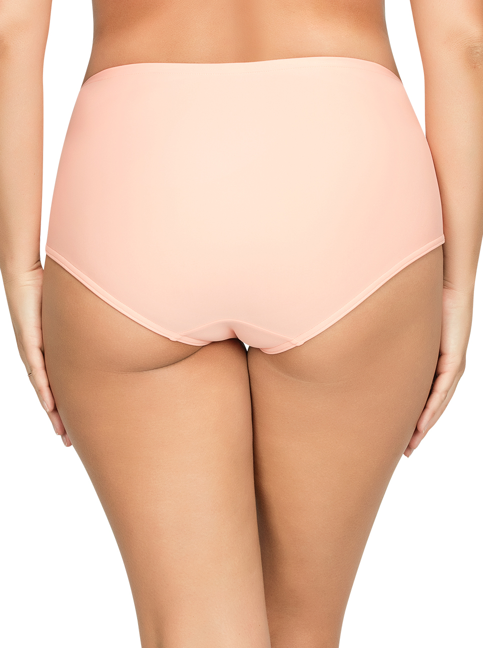 PARFAIT Keira HighWaistBikiniBottomS8075 Peach Back - Keira High-Waist Bikini Bottom Peach S8075