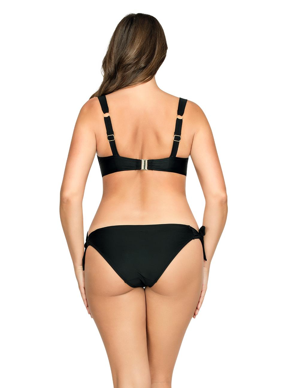 PARFAIT Oceane SoftPaddedBikiniTopS8061 BikiniBottom Black Back - Oceane Bikini Bottom Black S8063
