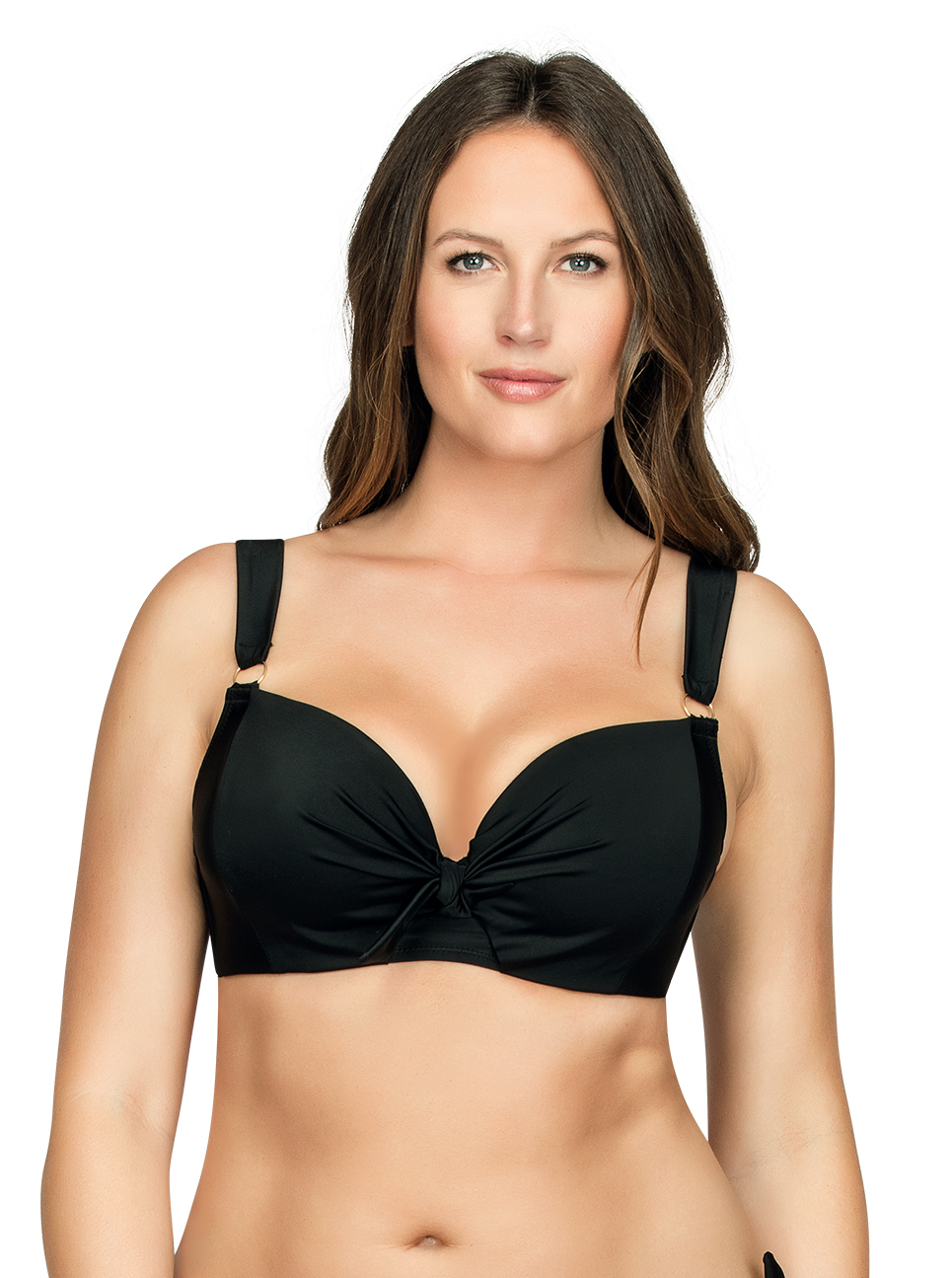 PARFAIT Oceane SoftPaddedBikiniTopS8061 Black Front1 - Oceane Soft-Padded Bikini Top Black S8061