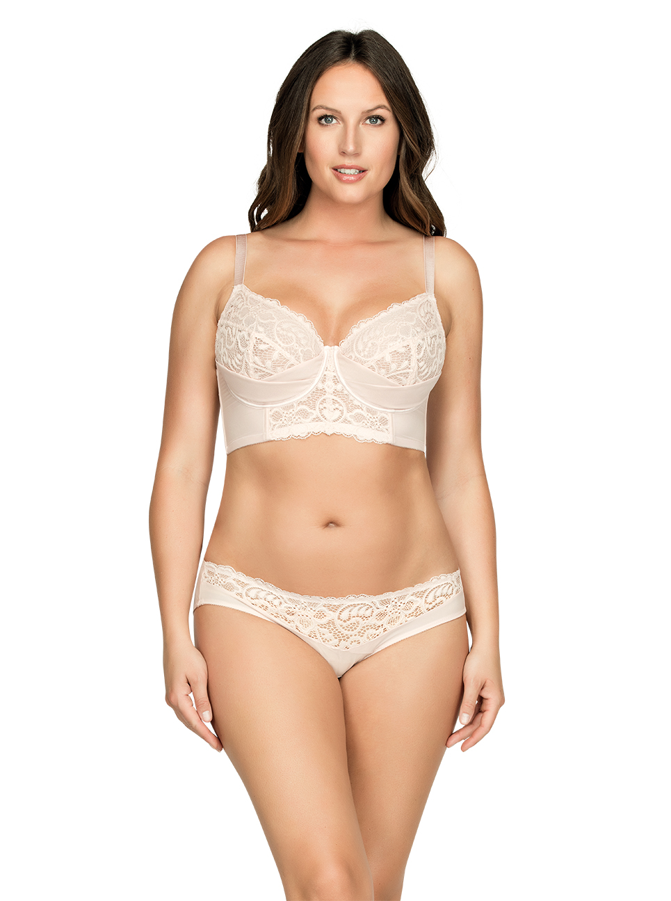 PARFAIT Cora UnlinedLonglineBraP5632 BikiniP5633 Front - Cora Bikini - Pale Blush - P5633