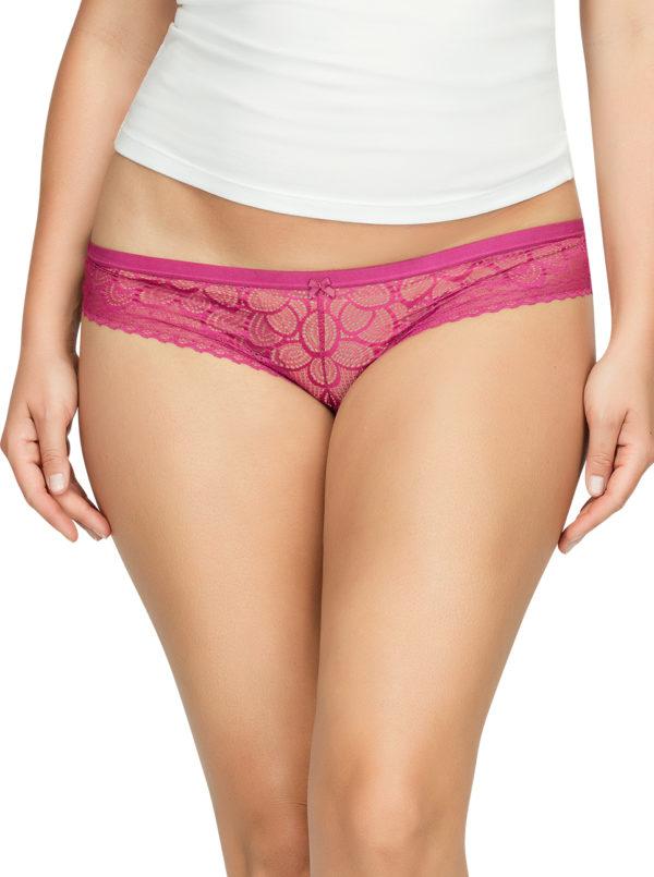 PARFAIT ParfaitPanty SoGlam BikiniPP302 Raspberry Front1 600x805 - Parfait Panty So Glam Bikini - Raspberry - PP302